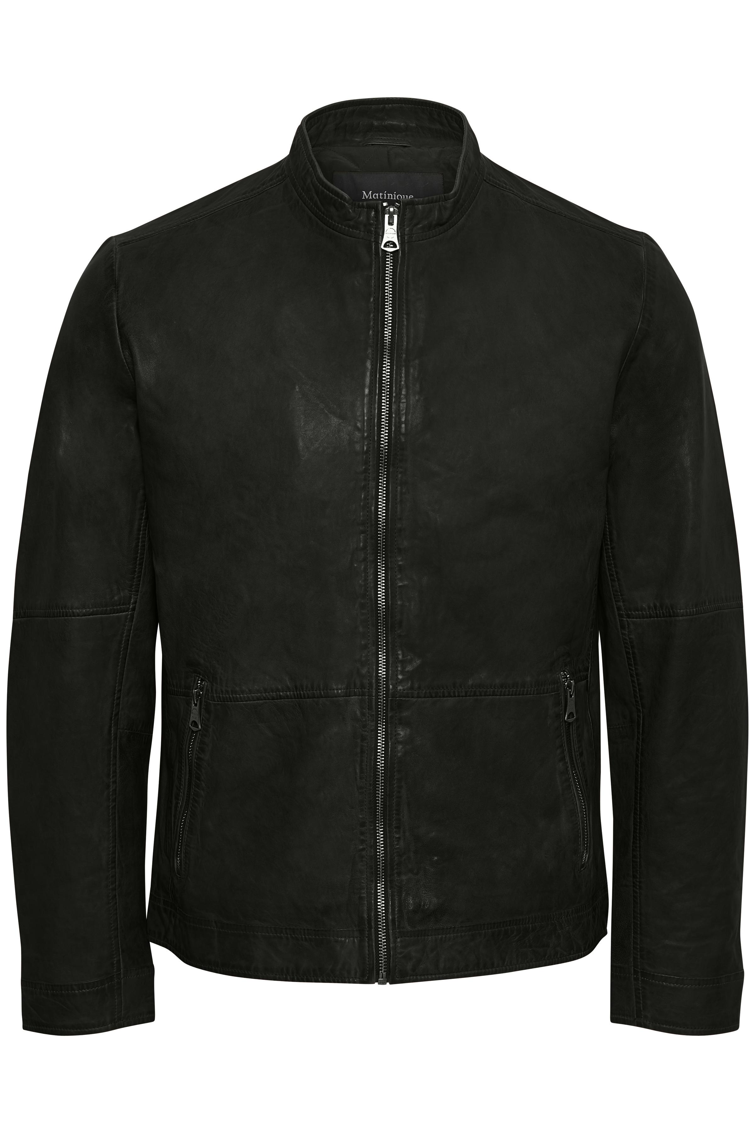 Black Adron Skindjakke – Køb Black Adron Skindjakke fra str. S-XXL her