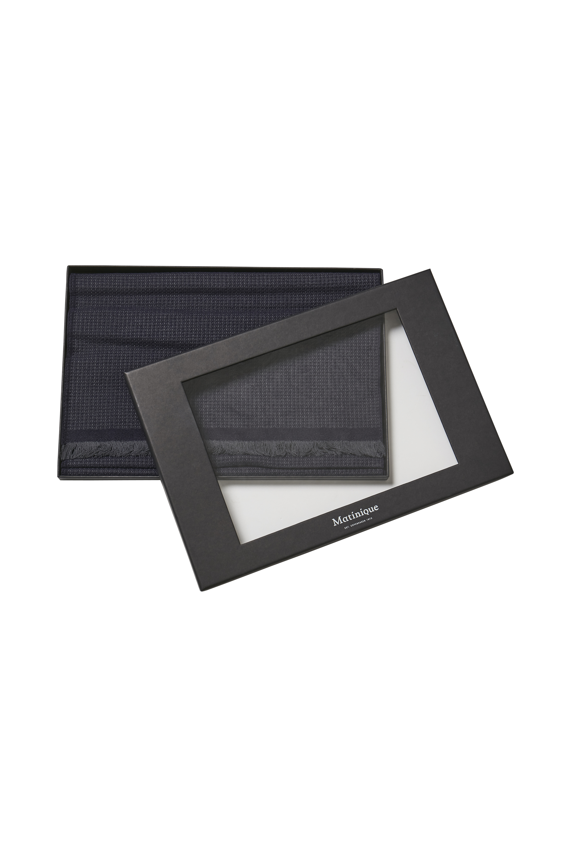 Dark Navy Aydon Tørklæde – Køb Dark Navy Aydon Tørklæde fra str. ONE her